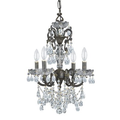 Markenfield 4-Light Crystal Chandelier Crystal Type: Swarovski Strass