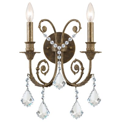 Andrea 2-Light Crystal Candle Wall Sconce