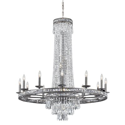 Markenfield 16-Light Crystal Chandelier Finish: English Bronze