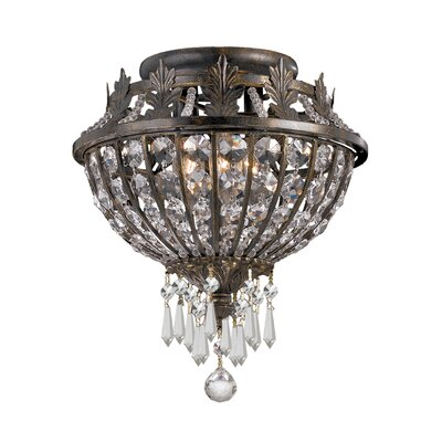 Markenfield Crystal 3-Light Semi Flush Mount