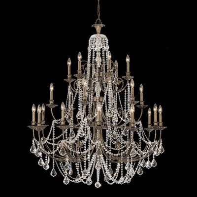 Markenfield 20-Light Crystal Chandelier Crystal Type: Clear Swarovski Spectra