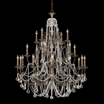Markenfield 20-Light Crystal Chandelier Crystal Type: Clear Swarovski Strass