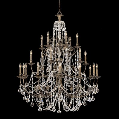 Markenfield 20-Light Crystal Chandelier Crystal Type: Clear Majestic Wood Polished