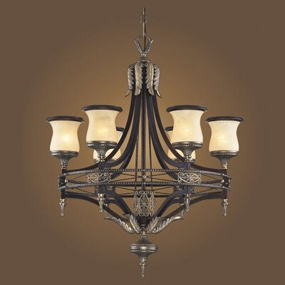 Barraclough 6-Light Shaded Chandelier Color: Antique Bronze and Dark Umber