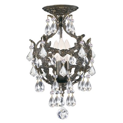 Markenfield 3-Light Semi Flush Mount