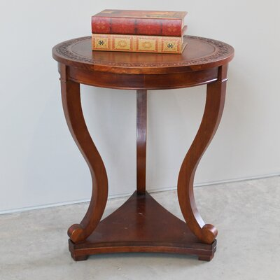 Luck Hand Carved End Table
