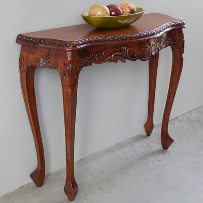 Almont Hand Carved Wood Console Table