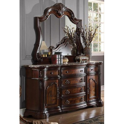 Fletcher 6 Drawer Combo Dresser with Mirror