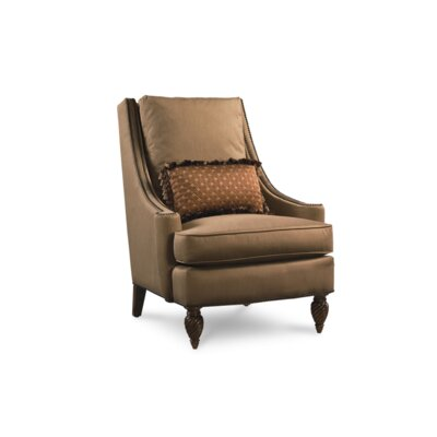 Crendon Accent Chair with Throw Pillow