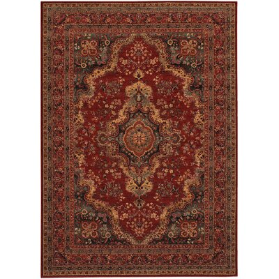 Bardin Medallion Burgundy/Brown Area Rug Rug Size: Rectangle 46 x 66