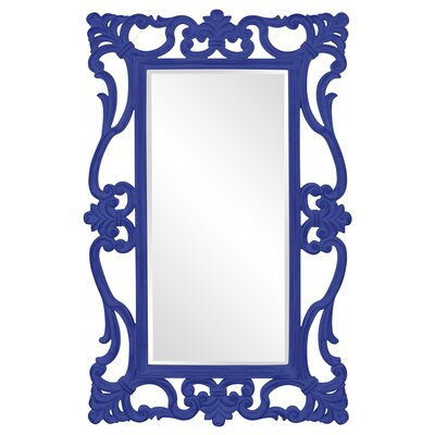 Open Scroll Design Mirror Finish: Royal Blue