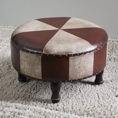 Stone Castle 15 Faux Leather Ottoman Upholstery: Mix Pattern