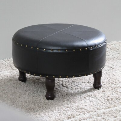 Stone Castle Cocktail Ottoman Upholstery: Black