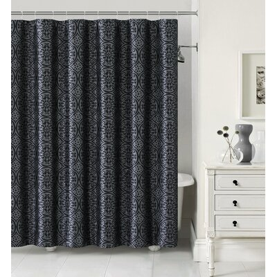 Montsegur Shower Curtain Color: Black