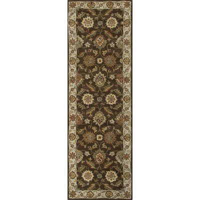 Wetheral Brown/Ivory Area Rug Rug Size: Runner 2'6