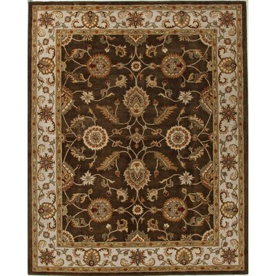 Wetheral Brown/Ivory Area Rug Rug Size: Rectangle 4 x 8