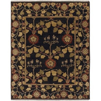 Farnhill Tree of Life Deep Charcoal Contemporary Rug Rug Size: 4 x 6