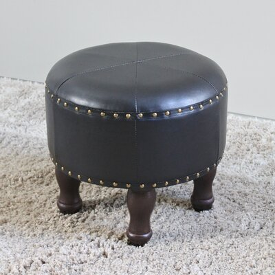 Stone Castle Round Ottoman Upholstery: Dark Chocolate