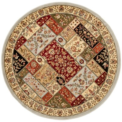 Richborough Gray Area Rug Rug Size: Round 53