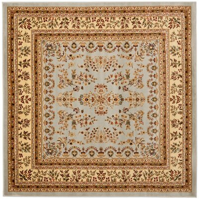 Richborough Gray/Beige Area Rug Rug Size: Square 6