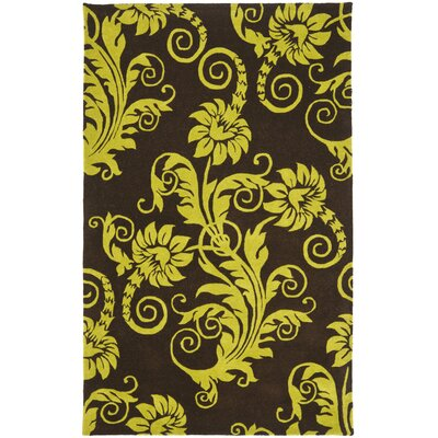 Kirkoswald Hand-Tufted Brown/Green Area Rug Rug Size: 2 x 3