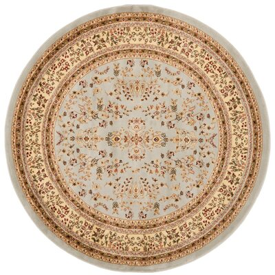 Richborough Gray/Beige Area Rug Rug Size: Round 6