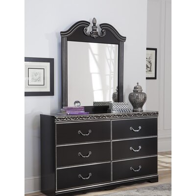 Jarvis 6 Drawer Dresser with Mirror