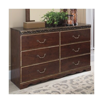 Jarvis 6 Drawer Dresser Finish: Reddish Brown