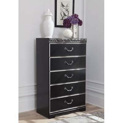 Jarvis 5 Drawer Chest Finish: Black