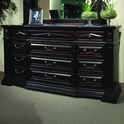 Chisnell 12 Drawer Dresser with Mirror