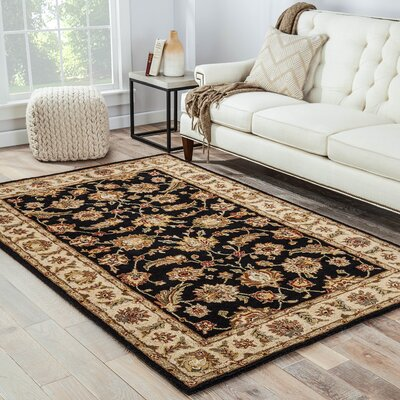 Wetheral Ebony/Sand Area Rug Rug Size: Rectangle 26 x 4