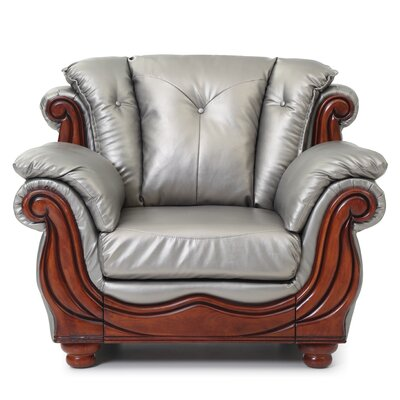 Gospel Armchair Color: Antique Silver
