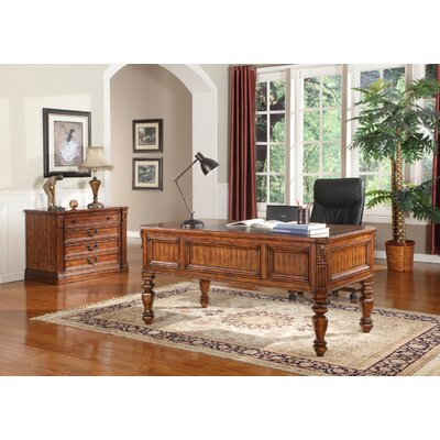 Gunnersbury 2 Piece Writing Desk and File Wall