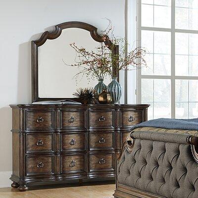 Giffard 6 Drawer Dresser with Mirror