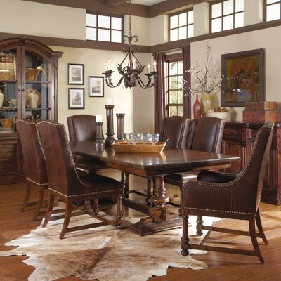 Carnaghliss Genuine Leather Upholstered Dining Chair (Set of 2)