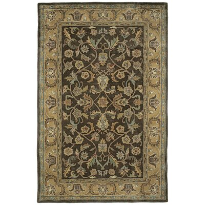 Queens Chocolate Area Rug Rug Size: Round 59