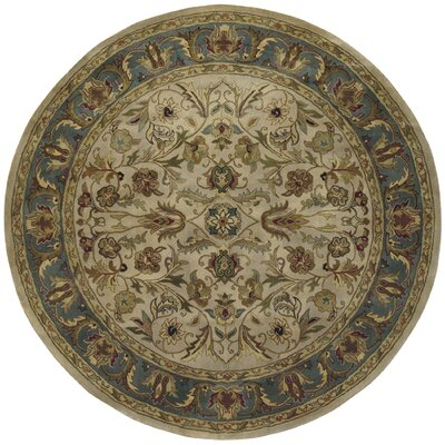 Queens Ivory Area Rug Rug Size: Round 79