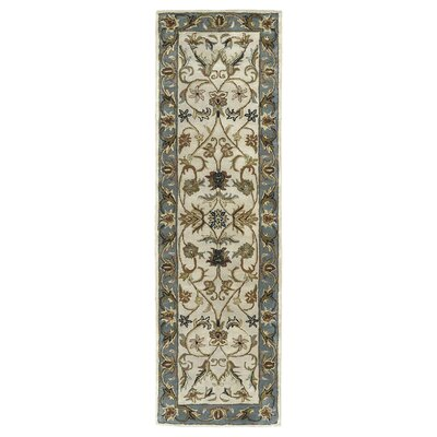 Queens Ivory Area Rug Rug Size: Runner 23 x 79