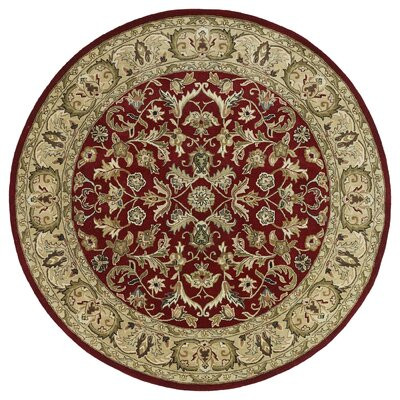 Queens Red Area Rug Rug Size: Round 99
