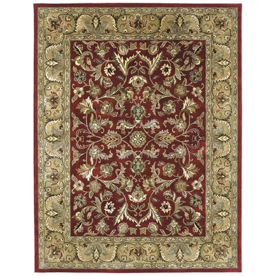 Queens Red Area Rug Rug Size: Rectangle 2 x 3