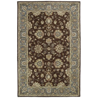 Queens Brown Area Rug Rug Size: 36 x 53