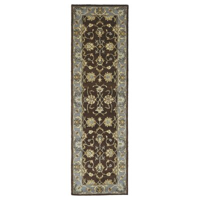 Queens Brown Area Rug Rug Size: Runner 23 x 79