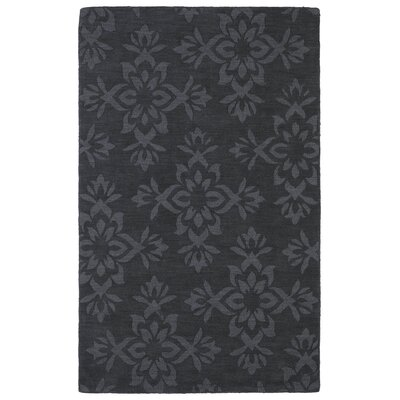 Roddin Charcoal Geometric Area Rug Rug Size: Rectangle 36 x 56