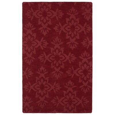 Roddin Wine Red Geometric Area Rug Rug Size: 36 x 56