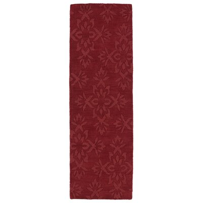 Roddin Wine Red Geometric Area Rug Rug Size: Runner 26 x 8