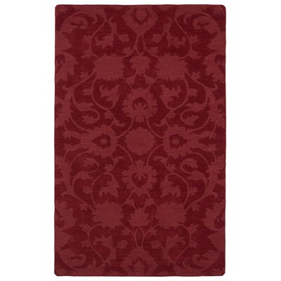 Roddin Red Area Rug Rug Size: 96 x 136