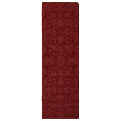 Roddin Red Area Rug Rug Size: Runner 26 x 8