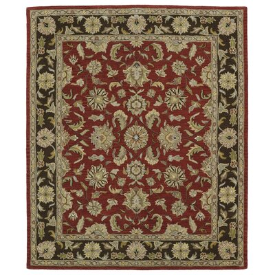 Barkell Red/Black Area Rug Rug Size: 8 x 11