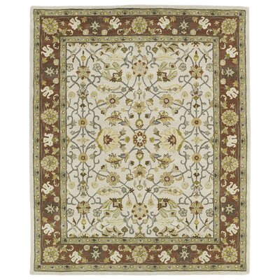 Barkell Ivory Area Rug Rug Size: Rectangle 76 x 9
