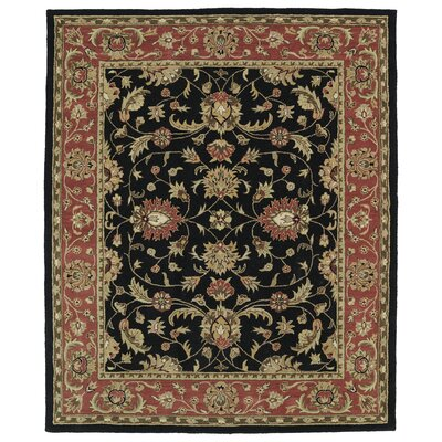 Barkell Black/Red Area Rug Rug Size: Rectangle 76 x 9